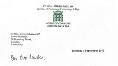 Amber Rudd: Resignation letter in full - BBC News