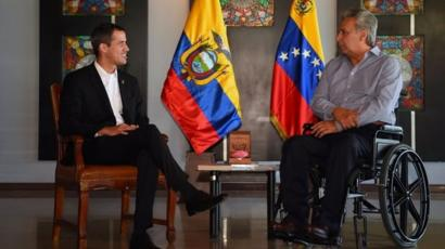 Guaidó y Lenín Moreno