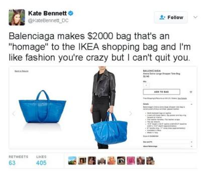 Ikea tote bag: When designers make expensive versions of