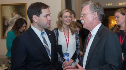 Marco Rubio y John Bolton