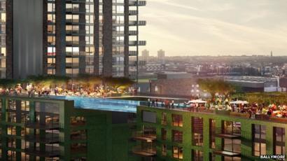 Swimming pool \'bridge\' to link London towers - BBC News