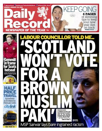 The papers: MSP reveals racist insults - BBC News