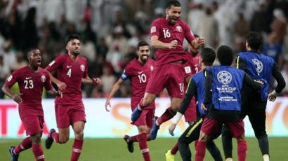كأس آسيا 2019: قطر تهزم الإمارات 4-0 وتتأهل لنهائي البطولة - BBC News Arabic
