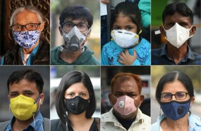 Masks Pollution Beat Delhi Wearing And Berries To Eating Air