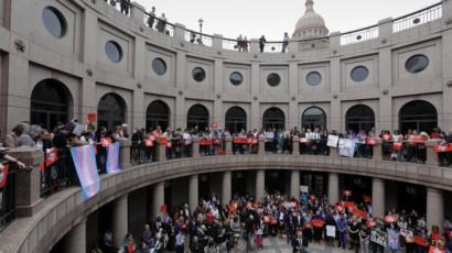 Texas Bathroom Bill Passes Key Vote Bbc News