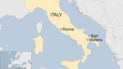 Italy Crime Gang Rips Open Security Van With Diggers Near Bari
