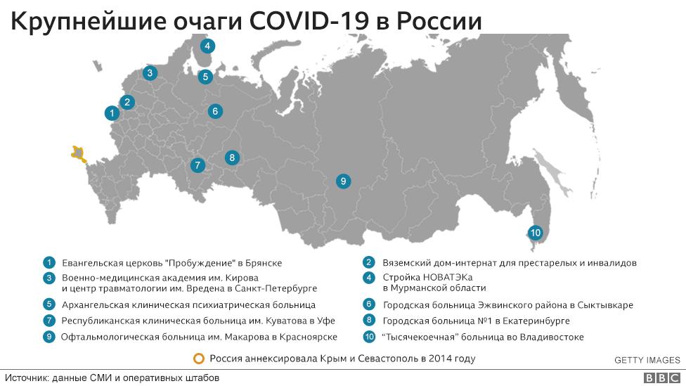 """Наш Ухань"""". Что происходит в 11 крупнейших очагах коронавируса в ..."""