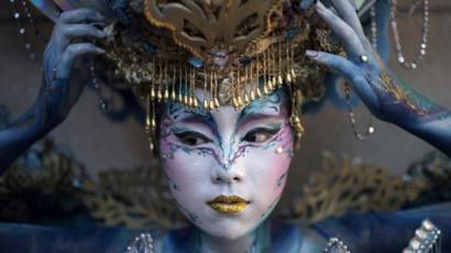 Daegu Festival South Korea S Body Art Show Bbc News