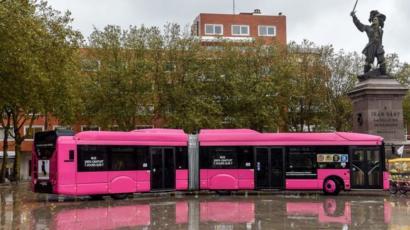 Bus gratuito en Dunkerque, Francia