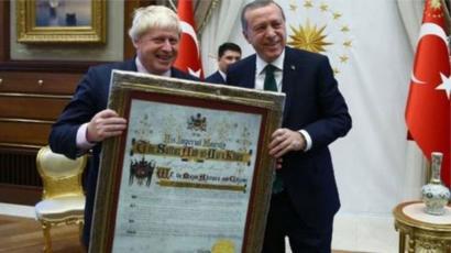 Boris Johnson ve Recep Tayyip Erdoğan
