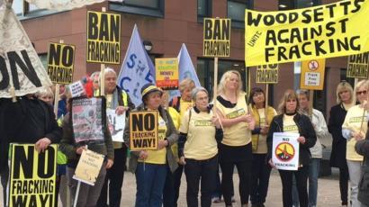 Rotherham Fracking Test Planning Inquiry Begins Bbc News