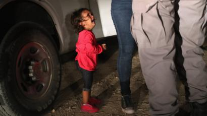 World bbc news a two year old honduran asylum seeker cries as her mother is searched and fandeluxe Gallery