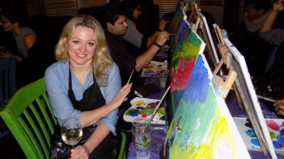 Art And Wine Learning To Paint While Drinking Bbc News