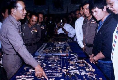 المسروقات التي حصلت عليها الشرطة التايلندية