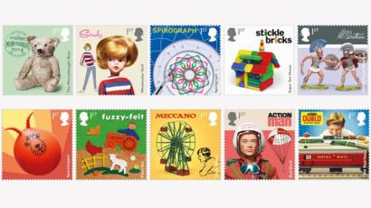UK toys celebrated on Royal Mail stamps - BBC News