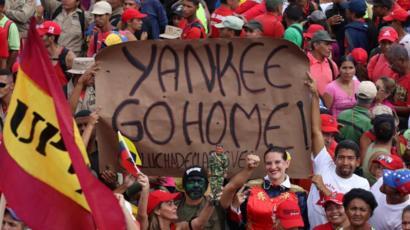 Maduro apela al discurso antiimperialista para movilizar a sus seguidores.