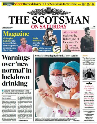 Scotland S Papers Testing Expansion And New Normal Drinking