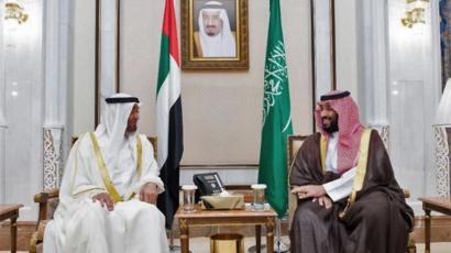 ولي العهد السعودي وحاكم أبوظبي