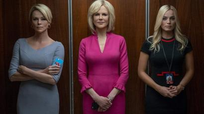 """Las actrices Charlize Theron, Nicole Kidman y Margot Robbie interpretaron a personalidades televisivas como Megyn Kelly en el filme """"Bombshell""""."""
