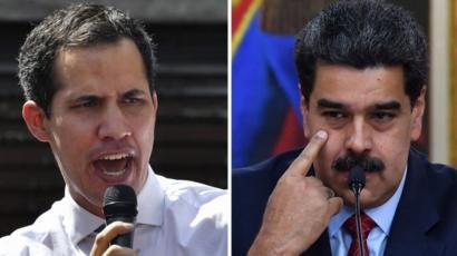 Juan Guaidó y Nicolás Maduro