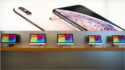 Apple sales rise while iPhone revenues dip - BBC News