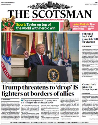 Scotland s papers Islamic State chief dead and diabetes