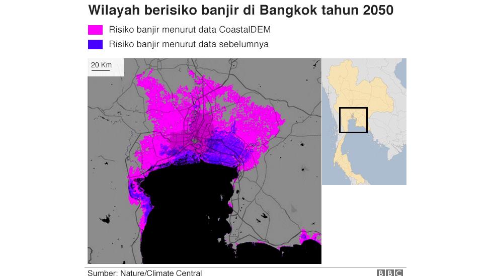 Proyeksi data CoastalDEM