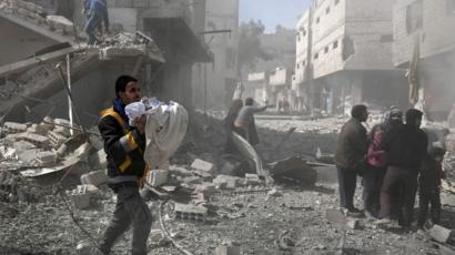 الغوطة تحت القصف