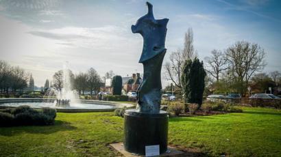 Henry Moore Statue Loan Marks Welwyn Garden City Centenary Bbc News