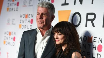 Anthony Bourdain and Italian actress Asia Argento in New York City in April this year