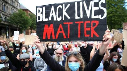 BLM protest at Belfast City Hall 3 June