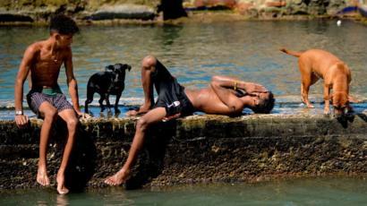 Baño en La Habana