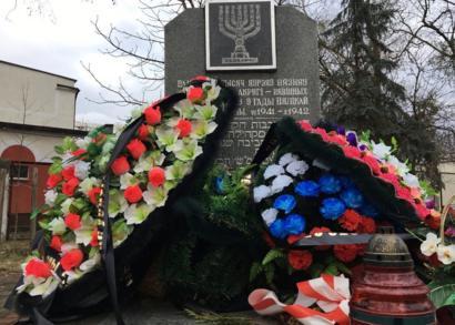 El monumento en recuerdo de las miles de víctimas judías en Brest
