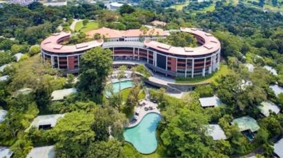دیدار رهبران کره شمالی و آمریکا در هتل مجلل جزیره سنتوزا برگزار می شد