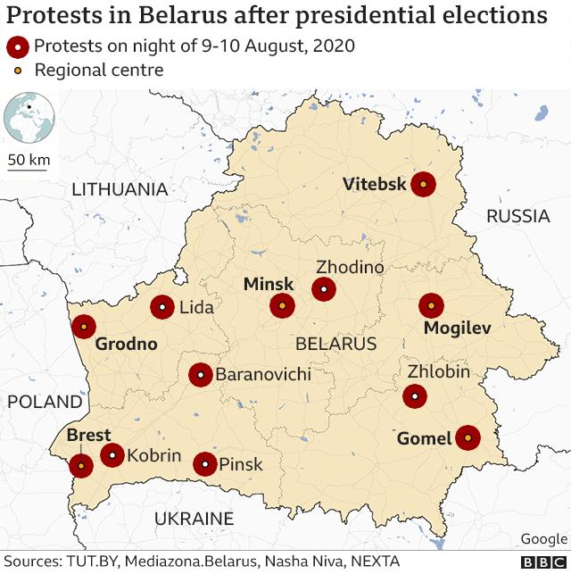 Belarus election: Opposition disputes Lukashenko landslide win - BBC News