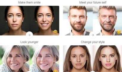 أمثلة لاستخدام تطبيقات تغيير الوجه