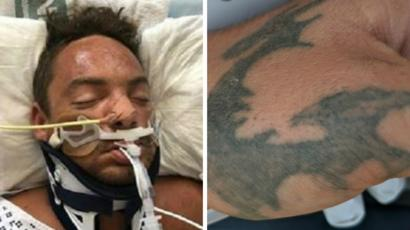 Plea To Identify Dragon Tattoo Man After River Thames Rescue Bbc News