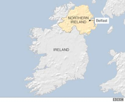 Map Of Northern Ireland And Ireland.Reality Check Ireland S Border And Brexit Bbc News