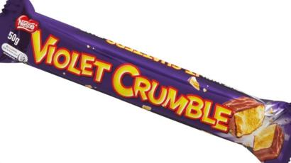 Australias Iconic Violet Crumble Chocolate Back In Local