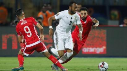 لقطة من مباراة تونس وغانا