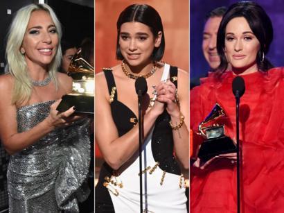 Grammys 2019 Lady Gaga Dua Lipa And Kacey Musgraves