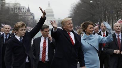 Barron Trump Defence Of President S Son Goes Viral Bbc News