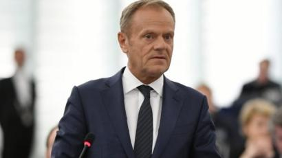 Brexit: Tusk says UK MEPs could sit for 'months or longer