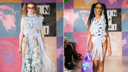 London Fashion Week Clothes Made From Recycled Plastic Bbc News