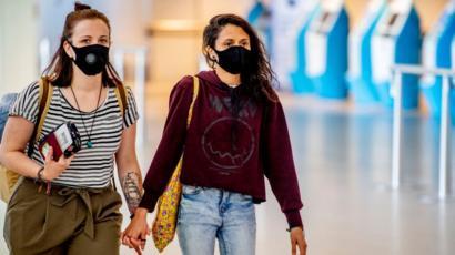 Chicas con mascarilla