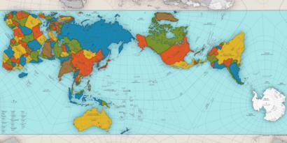 Para Imprimir Mapa Del Mundo Real.El Extraordinario Mapa Que Muestra Al Mundo Como Es