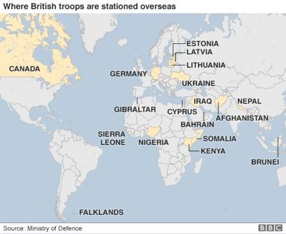 Where are British troops deployed overseas? - BBC News