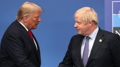 Johnson and Trump, two sides of the same populist coin, meeting