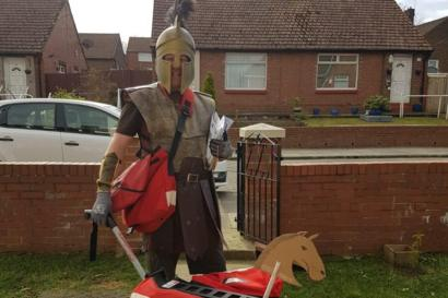 Coronavirus Postal Worker Dons Fancy Dress To Lift Spirits