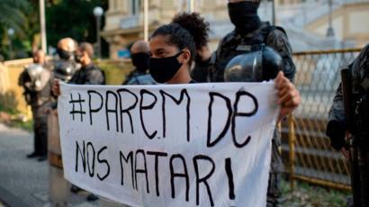 Protesta contra la letalidad policial en Brasil